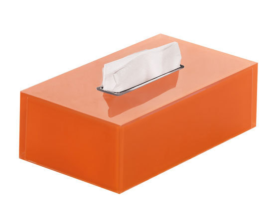 Gedy Rainbow Rectangular Tissue Box In Orange RA08-67