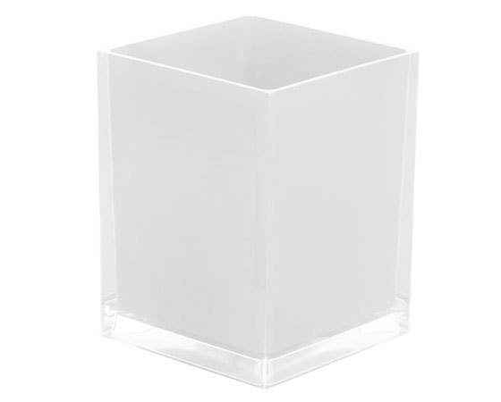 Gedy Rainbow Waste Basket/Bin In White RA09-02