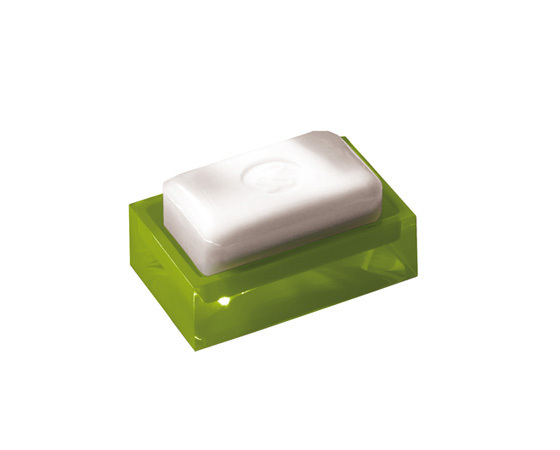 Gedy Rainbow Soap Dish In Glossy Green RA11-04