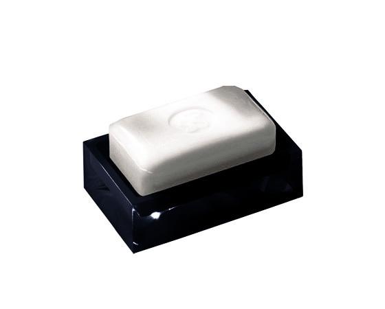 Gedy Rainbow Soap Dish In Glossy Black RA11-14