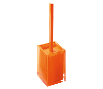Gedy Rainbow Toilet Brush In Glossy Orange RA33-67