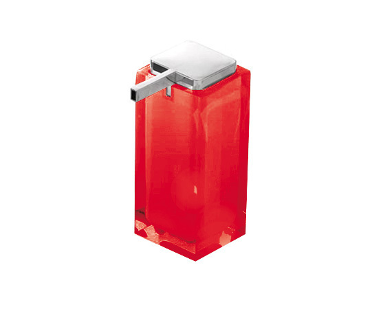 Gedy Rainbow Large Soap Dispenser In Red RA80-06
