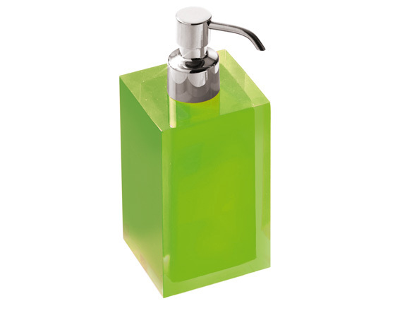 Gedy Rainbow Soap Dispenser in Glossy Green RA81-04
