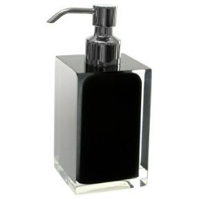 Gedy Rainbow Soap Dispenser in Glossy Black RA81-14