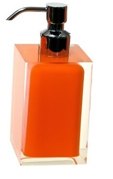 Gedy Rainbow Soap Dispenser ONLY in Glossy Orange RA81-67