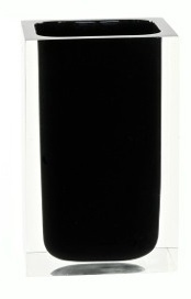 Gedy Rainbow Tumbler Bathroom Accessory in Black RA98-14