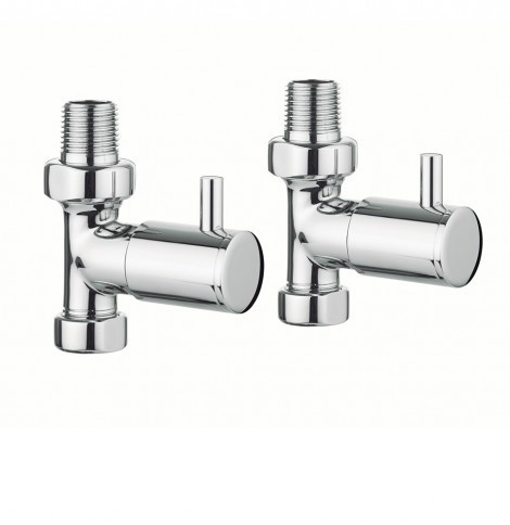 Bauhaus Design straight round rad valves chrome RADVS1