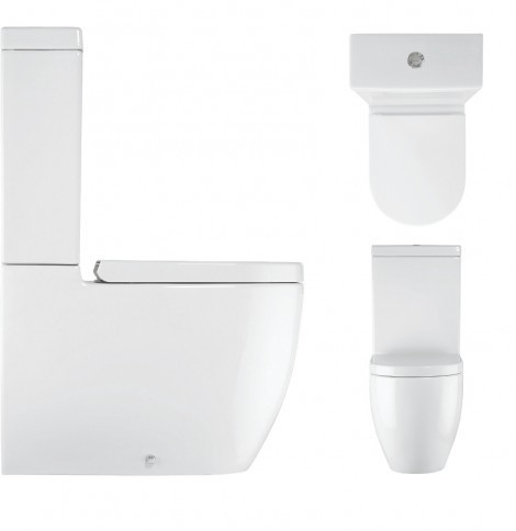 Crosswater Stream II Close Coupled Toilet WC Complete