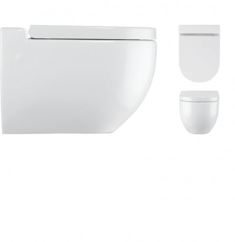 Bauhaus Stream II Wall Mounted Toilet Pan RG6006CW