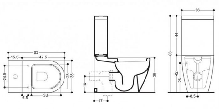 Bauhaus Stream II Close Coupled Cistern RG7005CW