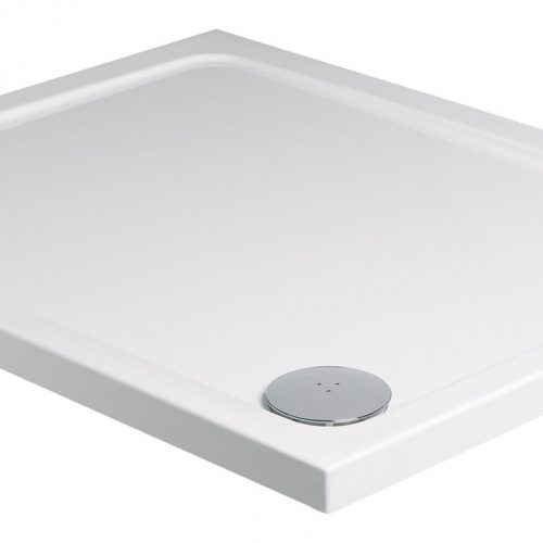 Roman rectangular 1200 x 800mm white shower tray waste RLT128