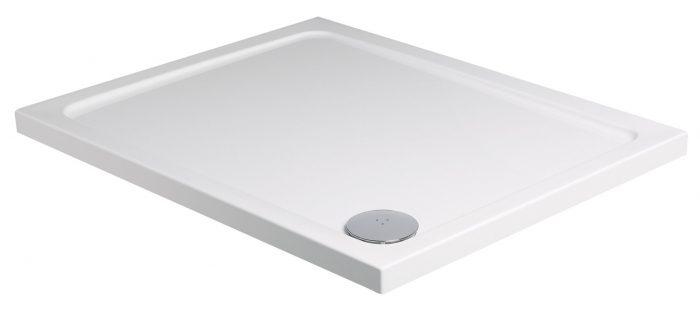 Roman rectangular 1200 x 800mm white shower tray waste RLT128