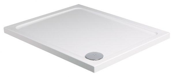 Buy Online Roman rectangular 1200 x 800mm white shower tray waste RLT128