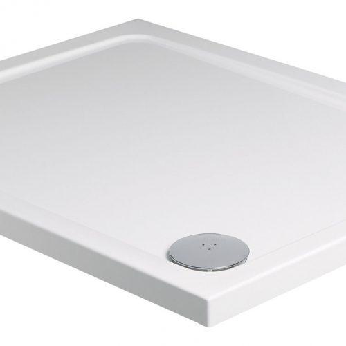 Roman rectangular 1600 x 800mm white shower tray waste RLT168