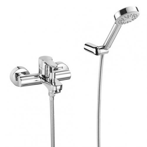 Roca L20 Wall Mounted Bath Shower Mixer Smooth Bodied