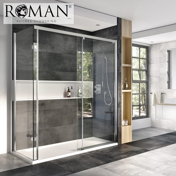 Buy Roman Decem Left Hand 1200 X 800 10mm Sliding Door