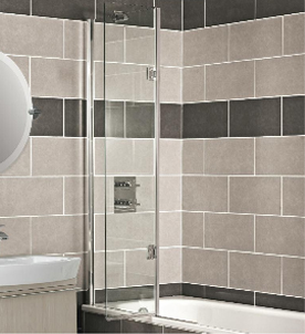Roman Orbital Outward Folding 8mm Bath Screen OBV213S