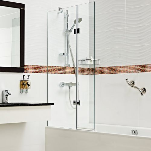 Roman Orbital Concealed Fix 8mm Inward Bath Screen OBV413S-0