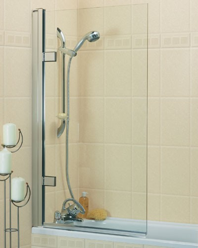 Roman Collage 8mm Hinged Bath Screen CBL13S