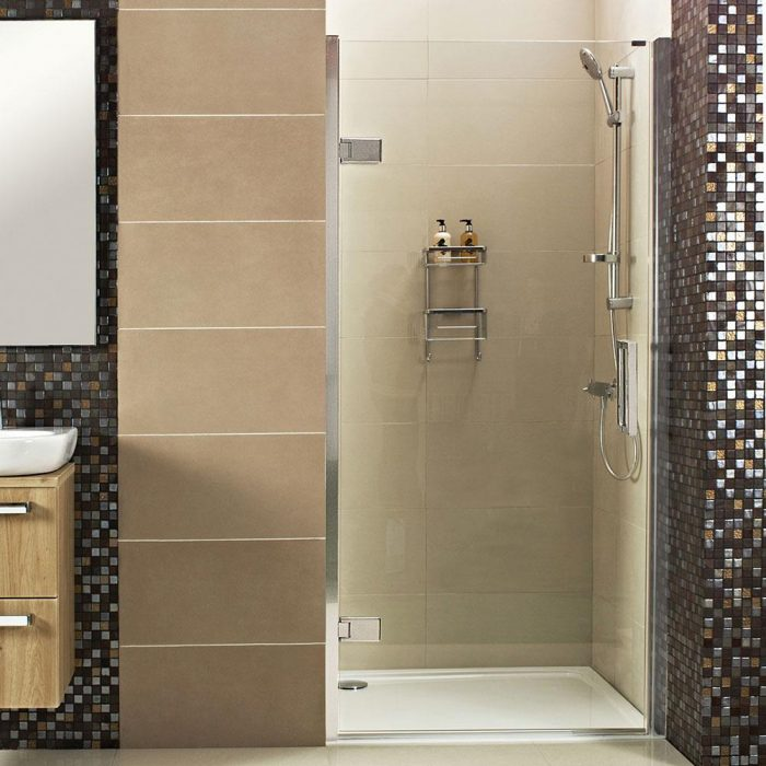 Roman Decem 900 Hinged Shower Door Curved Hinges DXL9A