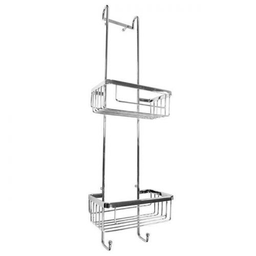 Roman big double hanging shower basket with hooks RSB01