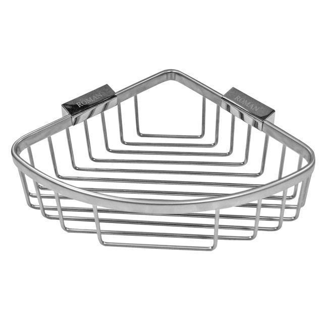 Roman large curved corner shower basket caddy RSB02