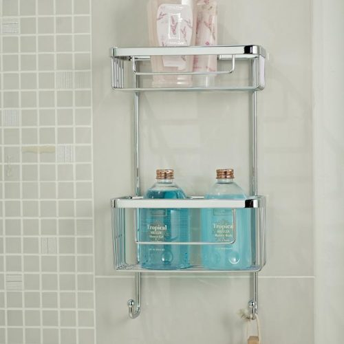 Roman double rectangular single wall shower basket RSB07