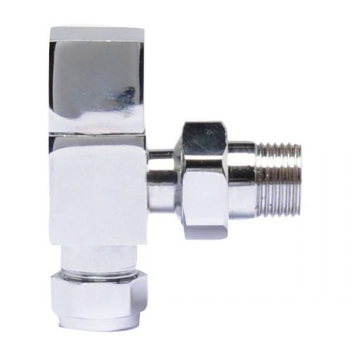 C/P Pure Square Radiator Valve Pack Angled Ht324