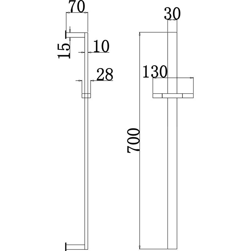 Saneux Square Slide Rail Kit for a bathrom S1004