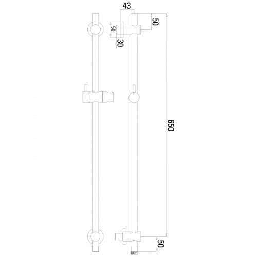 Saneux 65cm Slide rail kit with S1005