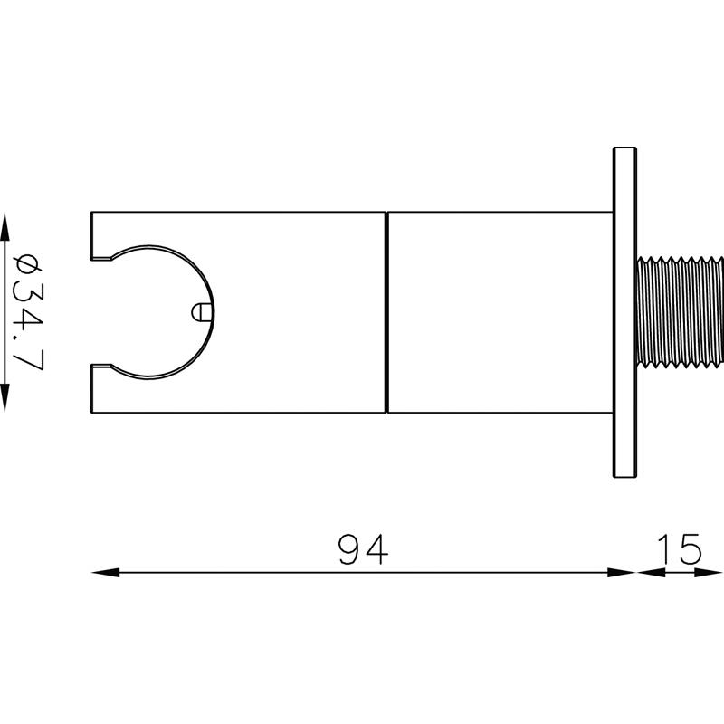 Saneux Outlet Elbow/Flow control & S1027