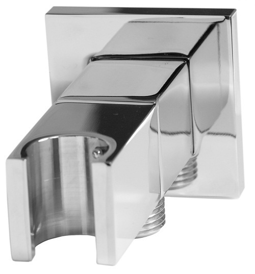 Saneux shower outlet elbow & holder stopcock square S1029
