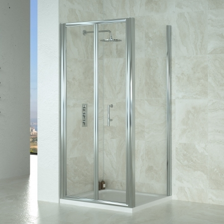 Saneux Wosh 80cm Bi-Fold Door Shower S2200