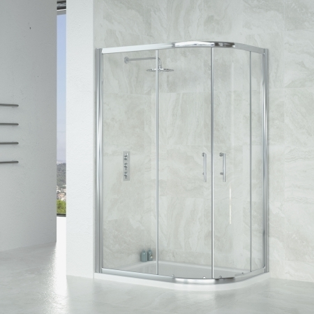 Saneux Wosh Offset Shower Quadrant 1200 x 800mm S2510