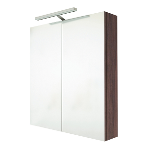 Saneux Austen 60cm 2 Door Pacific Walnut Illuminated Cabinet-0