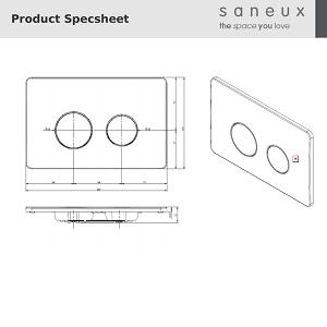 Saneux FLUSHE 2.0 Chrome Round Flush Plate FP110 -13810