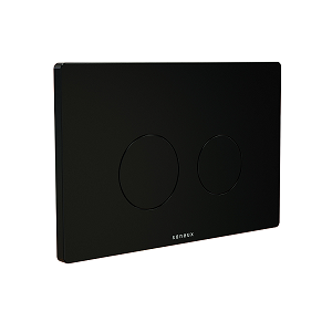 Saneux FLUSHE 2.0 Matt Black Round Flush Plate FP112-0