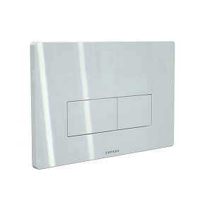 Saneux FLUSHE 2.0 White Square Flush Plate FP121-0