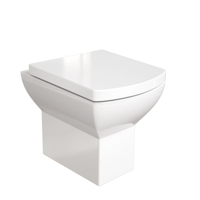 Saneux I-Line rimless back to wall toilet and soft close seat 6037