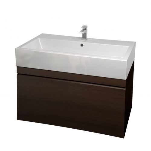 Saneux Matteo 75cm Wenge Wall Hung Handless Unit-0