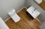 Saneux I-line close coupled short projection toilet complete