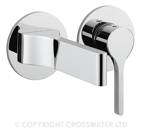 Crosswater Svelte Basin Tap Set Wall mounted SE120WNC