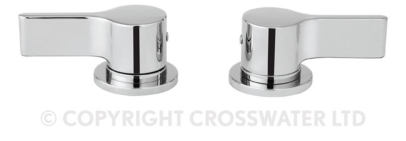 Crosswater Svelte Panel Valves Pair Deck Mounted SE350DC