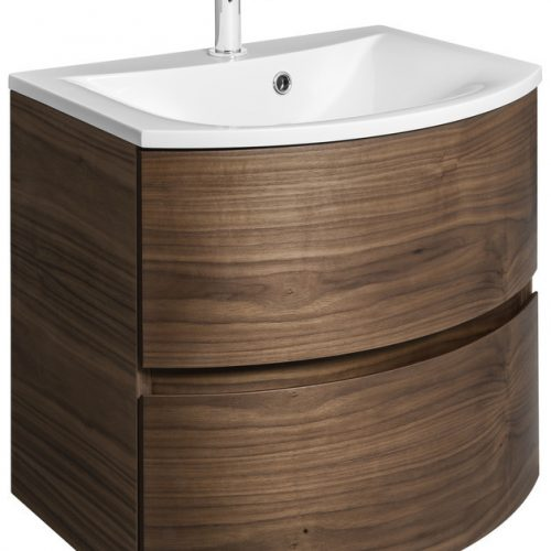 Bauhaus Svelte 60 Unit and Basin Walnut SE6000DAW SE0611SRW
