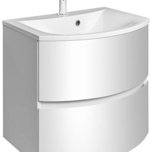 Crosswater Svelte 60 Unit and Basin White SE6000DWG SE0611SRW