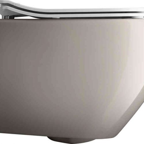 Crosswater Svelte Platinum Wall Hung WC & Soft Close seat