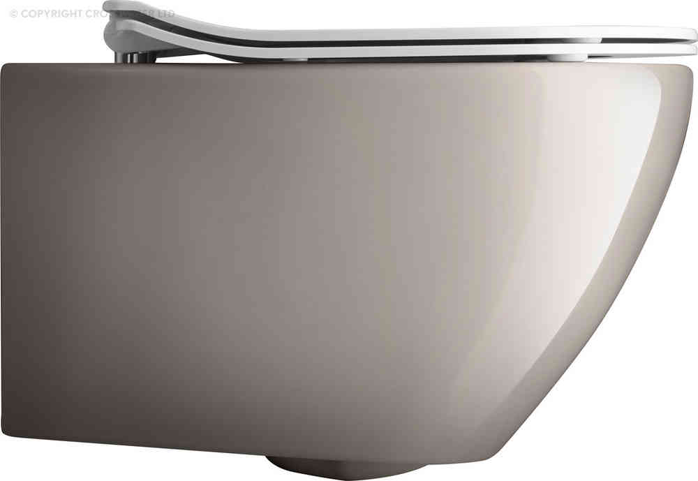 Bauhaus Svelte Platinum Wall Hung WC & Soft Close seat