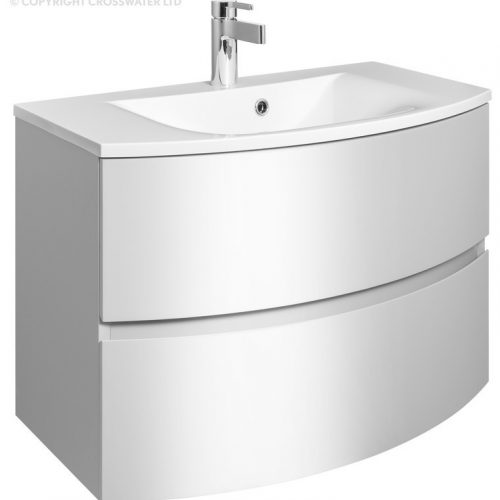 Crosswater Svelte 80 Unit and Basin White SE8000DWG SE0811SRW