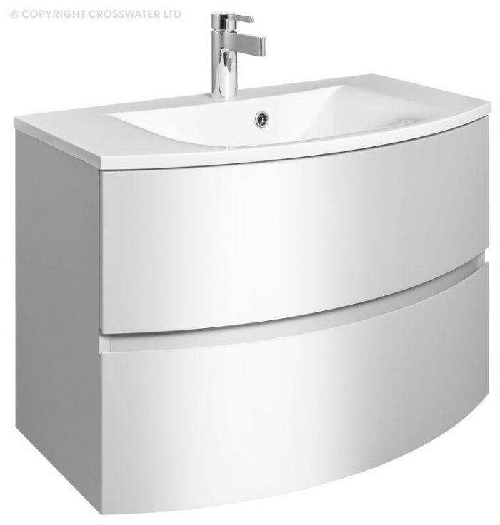 Bauhaus Svelte 80 Unit and Basin White SE8000DWG SE0811SRW