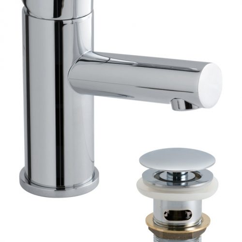 Vado mono basin mixer smooth bodied waste SEN-100/CC-C/P